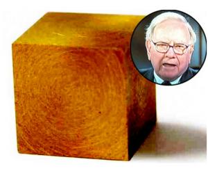 De ce Warren Buffett considera iluzorie investitia in aur. Ce dimensiuni ar avea un cub cu tot aurul din lume?