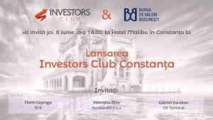 Lansare Investors Club Constanta – singurul club dedicat investitorilor in piata de capital din Constanta.