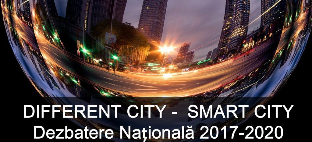 """Iluminat stradal eficient, parcări inteligente, eficiență energetică, platforme administrative de lucru, managementul deșeurilor și multe alte aplicații destinate orașelor moderne vor fi prezentate la """"Different City-Smart City. Dezbatere 2017-2020"""""""