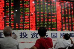 Chinese stock investors check their shar