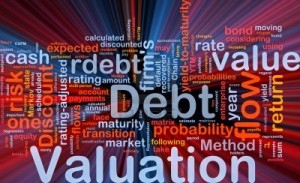 8635606-background-concept-wordcloud-illustration-of-debt-valuation-finance-glowing-light