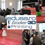Construiește-ți primul tău obiect 3D: Edusa te invită la Atelierele de 3D Printing organizate în cadrul Bucharest Technology Week 2016, în perioada 23-29 mai!