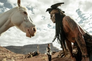 """THE LONE RANGER"" - Armie Hammer, Johnny Depp Ph: Peter Mountain ©Disney Enterprises, Inc. and Jerry Bruckheimer Inc.  All Rights Reserved."