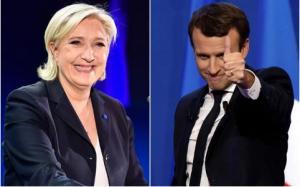 Alegeri prezidentiale Franta, turul I: Emmanuel Macron 23,75%, Marine Le Pen 21,5%