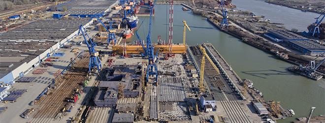 Vard Tulcea – şantierul naval – şi-a crescut de 2,5 ori afacerile la 1 miliard RON în 2018