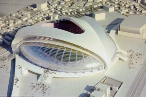 """Design-ul noului stadion din Craiova inspirat din """"Domnişoara Pogany"""" a lui Brâncuşi"""