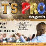 Let's PROfit Together – eveniment al Asociației PRO AFACERI BRAȘOV