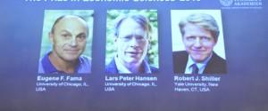 Premiul Nobel pentru economie a fost acordat profesorilor Fama, Hansen și Shiller